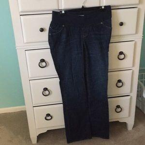 Size medium long dark maternity jeans by Old Navy!